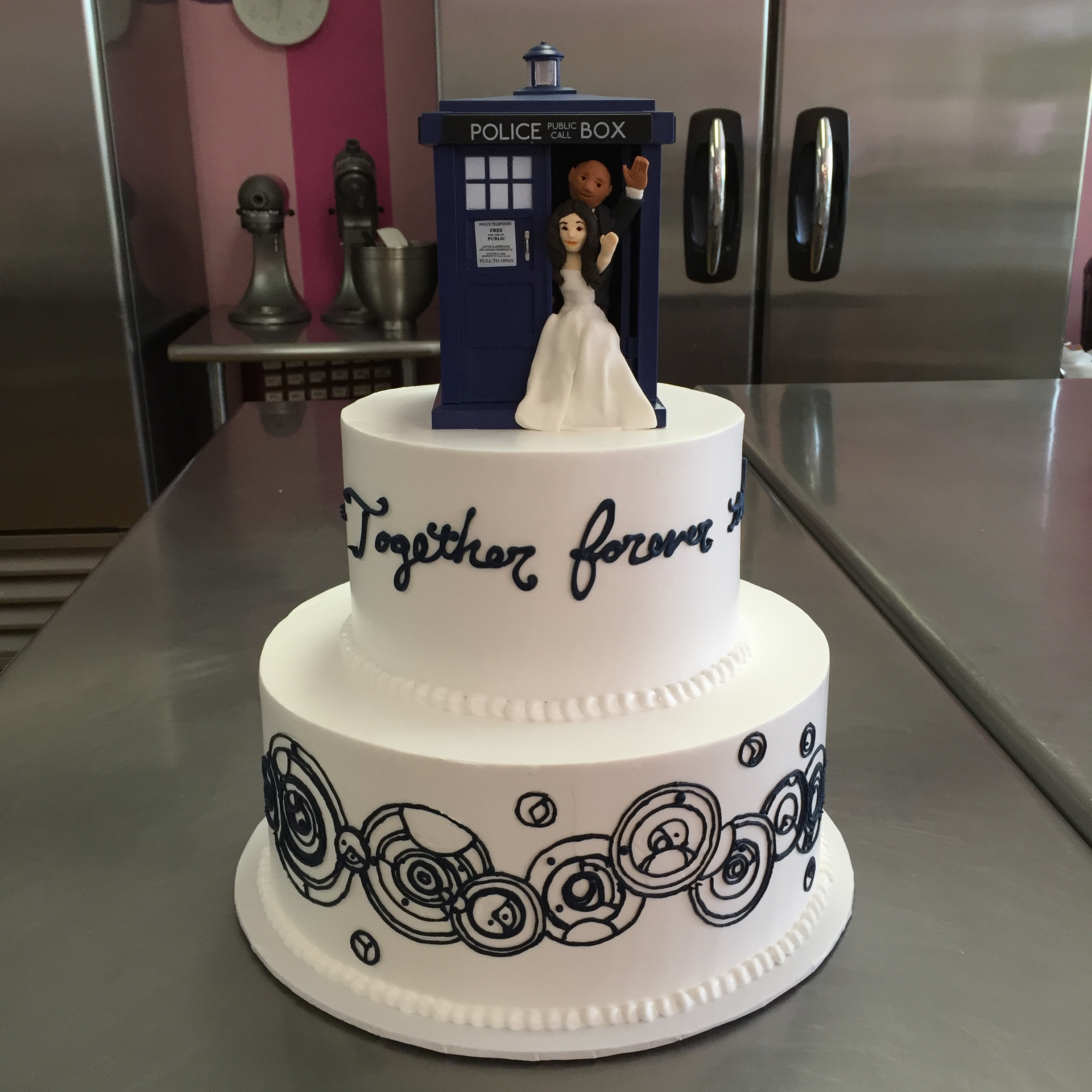 223 - Dr. Who Inspired Wedding Cake