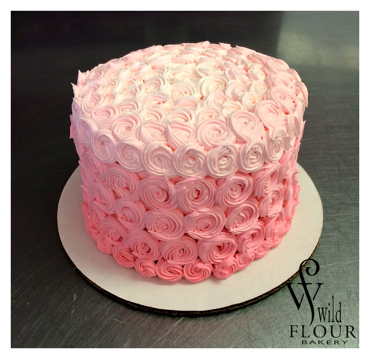 102 - Pink Ombre Small Rosettes